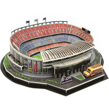 Classic Jigsaw 3D Puzzle Camp Nou Football Game Stadiums World DIY Enlighten Construction Brick Toys scale models Sets Paper