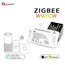 Gledopto zigbee ponte led controlador ww/cw dimmer tira controlador dc12/24 v zll padrão led