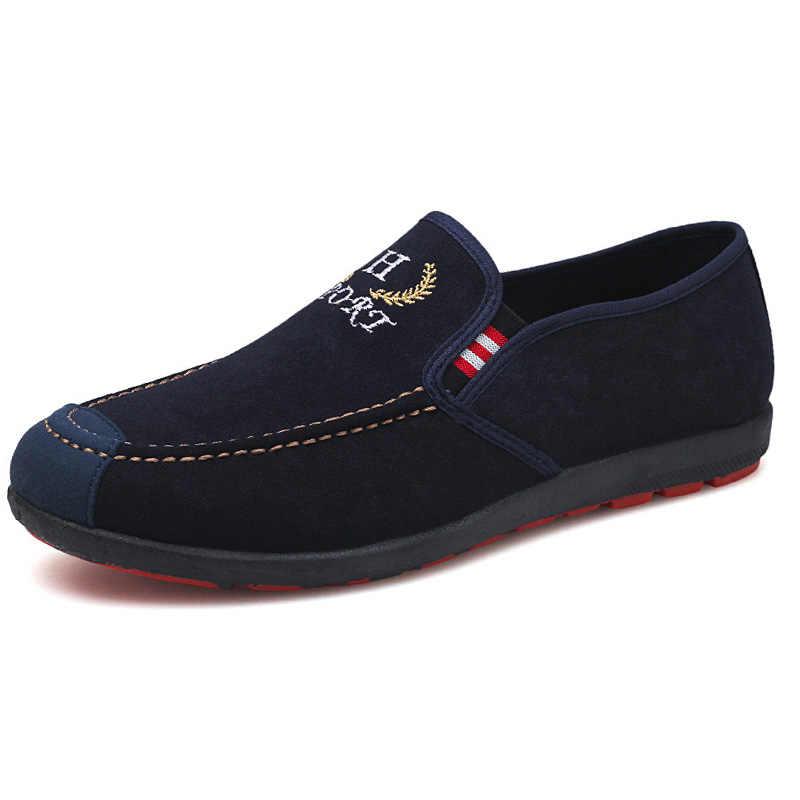 Erkek ayakkabısı 2019 Yaz Erkek rahat ayakkabılar Slip-on kanvas ayakkabılar moda makosen ayakkabılar Erkekler sneaker Nefes Açık Erkek Ayakkabı