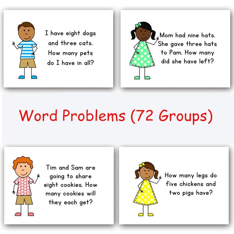 72 groupes/ensemble de phrases en anglais carte Flash feuille de réponse Question enfants apprentissage précoce jouet éducatif pour enfants jeux Puzzles