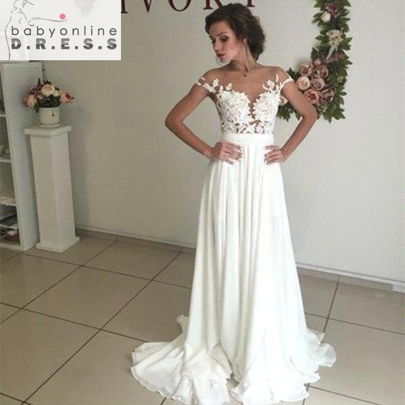 Buy romantic summer boho lace beach for Buy beach wedding dress