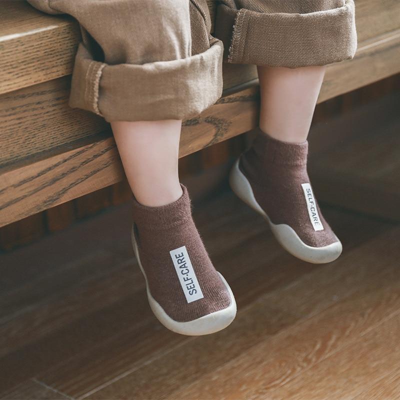 Baby Sock Shoes With Rubber Soles Infant Sock Newborn Spring Summer Autumn Children Floor Socks Shoes Anti Slip Soft Sole Sock