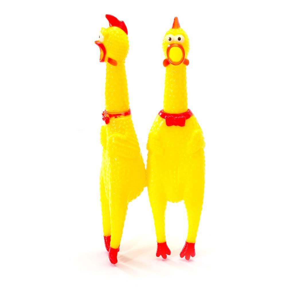 2020 Funny Toys Rooster Crows Attract People And Cat Squeak Toys Screaming Rubber Chicken Toys High Quality
