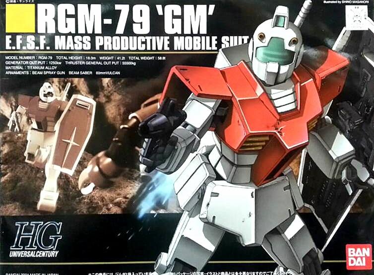 1PCS Bandai HGUC 020 RGM-79 GM 1/144 Gundam Mobile Suit Assembly Model Kits lbx toys Anime action figure TOYS Gunpla ohs bandai mg 179 1 100 sengoku astray gundam mobile suit assembly model kits