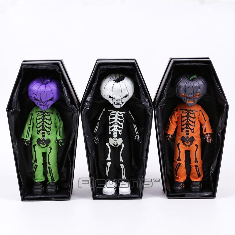 Living Dead Dolls Presents Halloween 2016 Jack O Lantern Horror Figure Toy Fluorescent Doll horror movie rob zombie halloween 2 killer michael myers living dead dolls presents mezco 28cm figure toys collectible model box