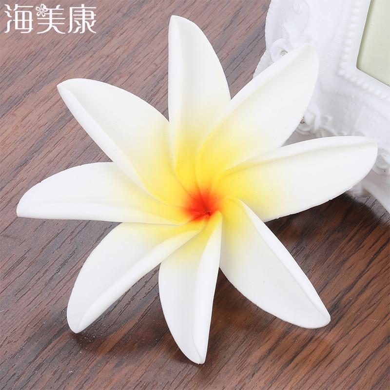 Haimeikang 2PCS Summer Style Sunny Bright Flower Foam Hair Clips Barrettes Headwear Hair Accessories Kids Women Girl Beach Party