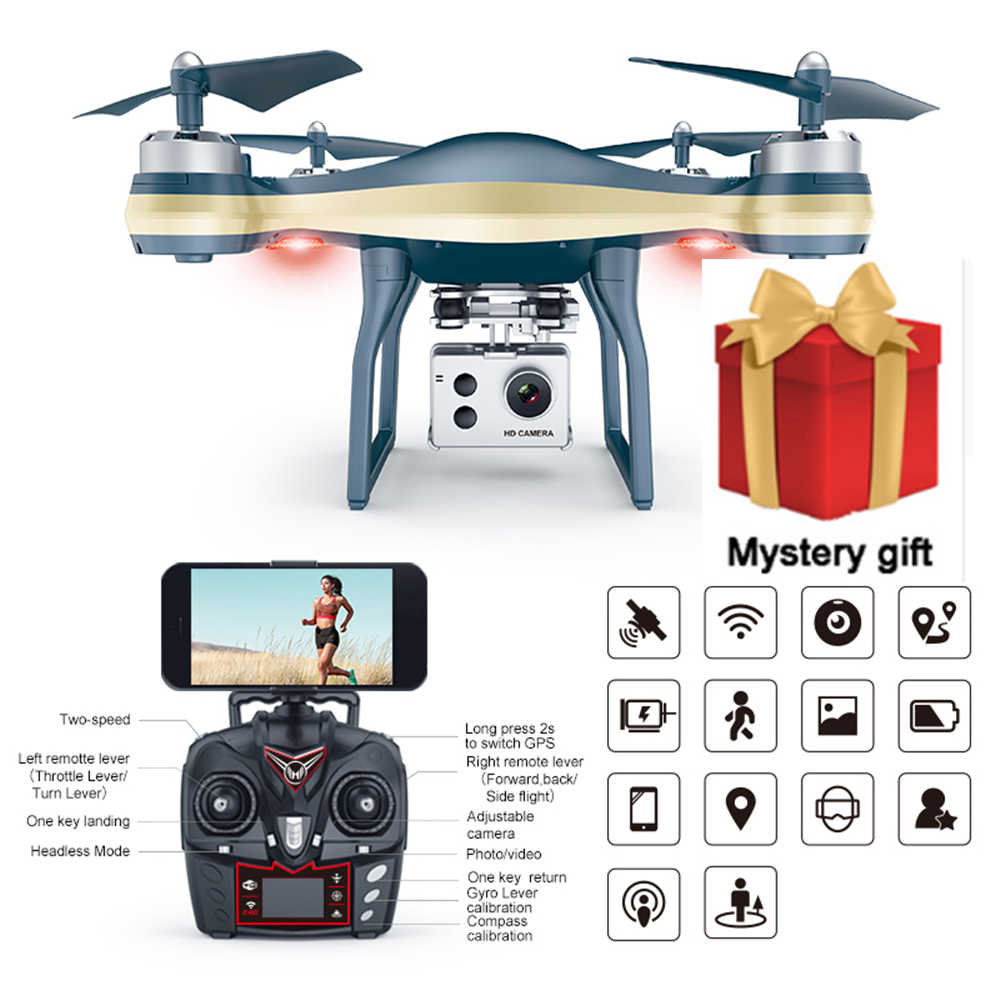 K10 GPS 5G Wifi FPV drone With 1080P /720p adjustable Camera 25mins Flight  Time low power return RC Drone Quadcopter