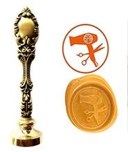 Siscors Custom Logo Luxury Vintage Wax Seal Stamps Kit Wedding Invitation Sealing Stamps Gift