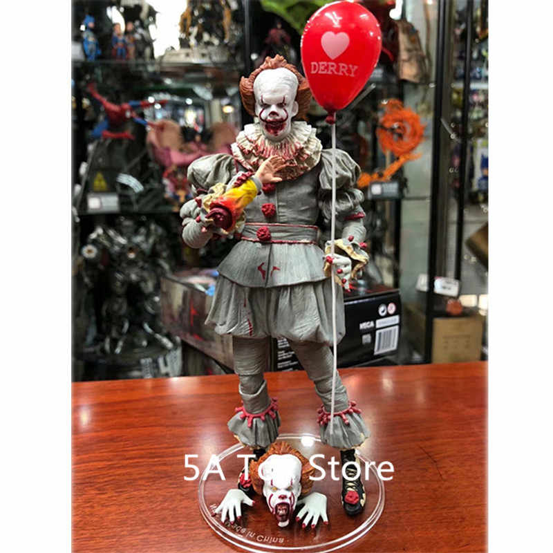 NECA Toys Stephen King's It the Joker Clown Pennywise Figure PVC horreur figurines à collectionner modèle jouet