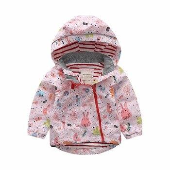 M74 Spring Autumn Fashion Boys Girl Blue Coat Hoodie Child Jacket Girl Tops Windbreaker Child Thin Coat Child Thin Jacket