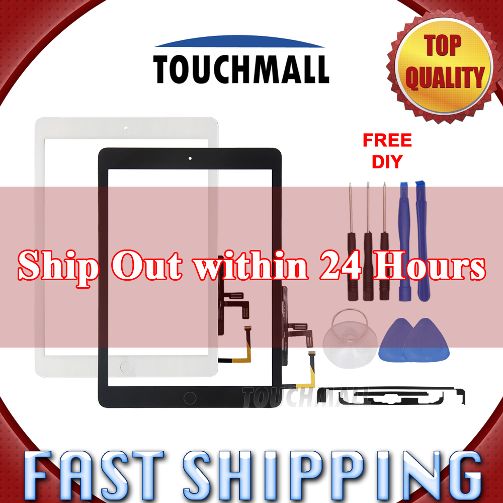 New Touch Screen Digitizer+Home Button Replacement For iPad Air 1 For iPad 5 A1474 A1475 A1476 White Black+ Tools(China)