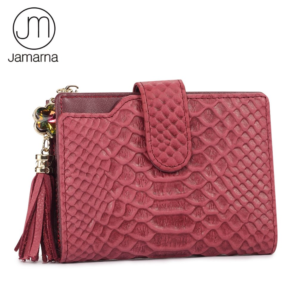 Jamarna Brand Women Wallets Genuine Leather Short Tassels Ladies Purse Credit Card Holder Wallet Female Small Wallet Women Purse 2016 new pu leather hasp ladies wallet female small short purse for women for coins credit card holder dollar price carteira