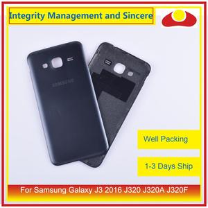 Image 2 - 50Pcs/lot For Samsung Galaxy J3 2016 J320 J320A J320F J320M J320FN Housing Battery Door Rear Back Cover Case Chassis Shell