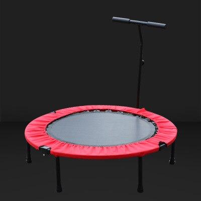 Trampoline pliant Portable réglable Construction sûre rembourrée cadre couverture poignée pour enfants enfants adulte 150 KG
