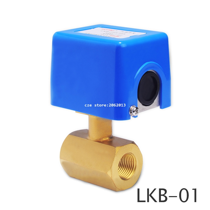 Free Shipping LBK-01D Two-way Water Flow Switch Target Type 1/2 3/4 1 DN15 DN20 DN25 Copper Interface Stainless Steel Base johnson f61kb 11c stainless steel target type flow switch flow switch flow controller 1 inch outside the wire