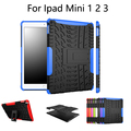 Case Для APPLE IPad Mini 123 Tablet Hybrid Стенд Футляр PC + TPU резиновая Броня Case Для iPad Mini 1 2 3 case + screen film + Стилус + OTG