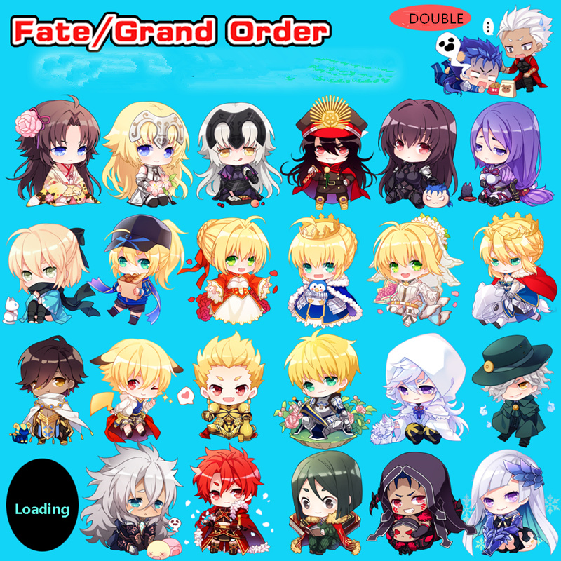 Japan Original Fate Grand Order Fgo Keychain Anime Solomon Game Acrylic Pendant Bag Parts & Accessories