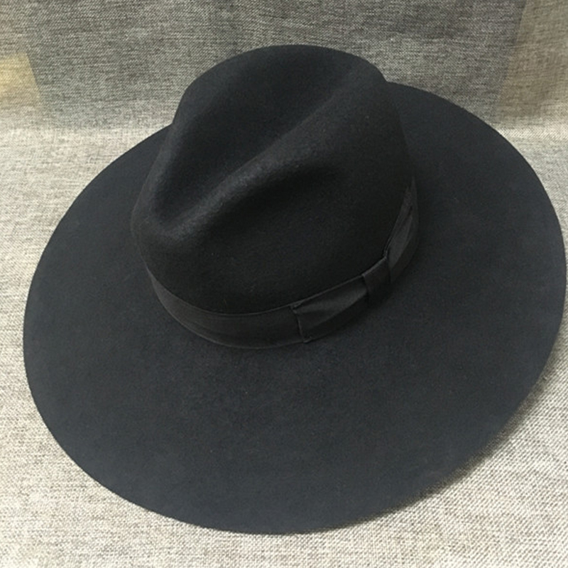 e72ef0d53b1 Sunlynn Wide Brim Fedora Hat Women Like Europe Style Wool Felt Bowler Hats  latest Fashion Large Hat Cap Play Party Hat-in Fedoras from Apparel  Accessories ...