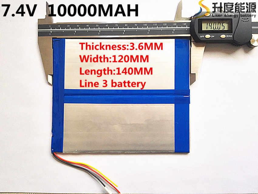 7,4 V, 10000 мАч 36120140 (полимерный литий-ионный аккумулятор) большой 9,7 дюймового планшета компьютерные батареи 10,1 панели Ньюман S7/S9 и A1