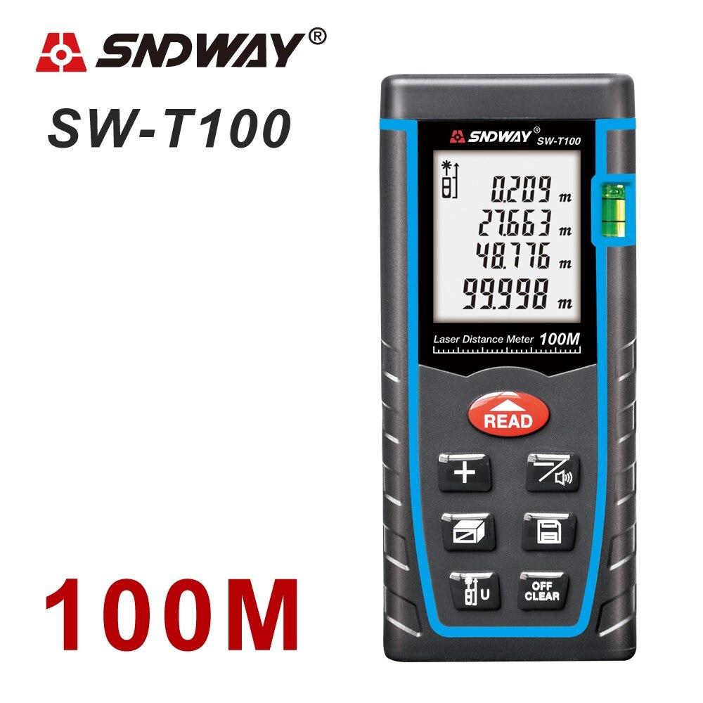 SNDWAY laser-distanzmessgerät 40 mt 60 mt 80 mt 100 M laser-entfernungsmesser range finder laser maßband bauen gerät roulette trena herrscher