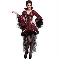 Fantasia Halloween Carnival Adult Women Devil Vampire Cosplay Costume Female Royal Count Vampire Costume Fancy Dress Plus Size