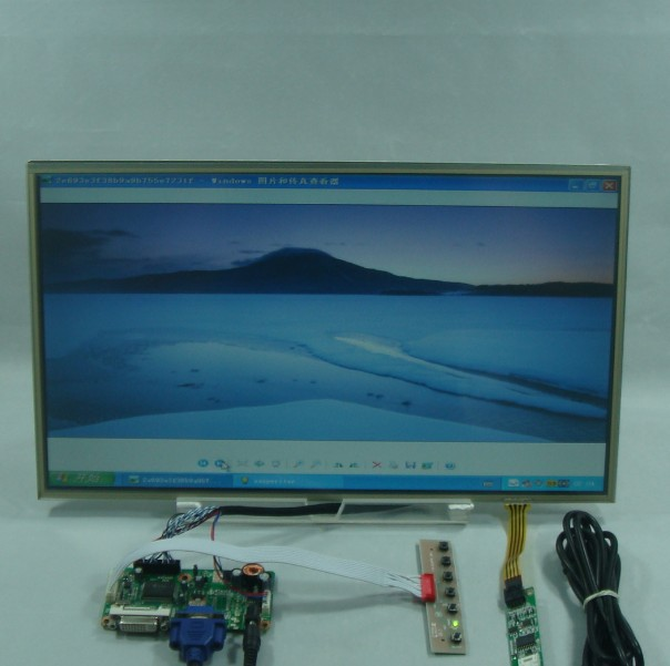 DVI+VGA Lcd Control board+17.3inch 1600*900 B173RW01 LP173WD1 Lcd +Touch Screen 8 4 8 inch industrial control lcd monitor vga dvi interface metal shell open frame non touch screen 800 600 4 3