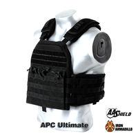 APC Armadillo Plate Carrier Ballistic Tactical Molle Gear Body Armor 10X12 Black Bullet Proof Vest IIIA Soft Armor Variety Kit