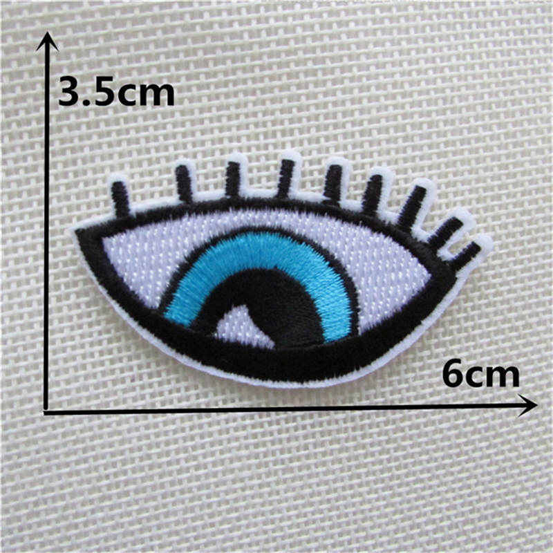 Eyes Cloth Badges Mend Decorate Patch Jeans Bag Hat Clothes Apparel stickers Decoration Applique Badge Patches Sewing Accessory