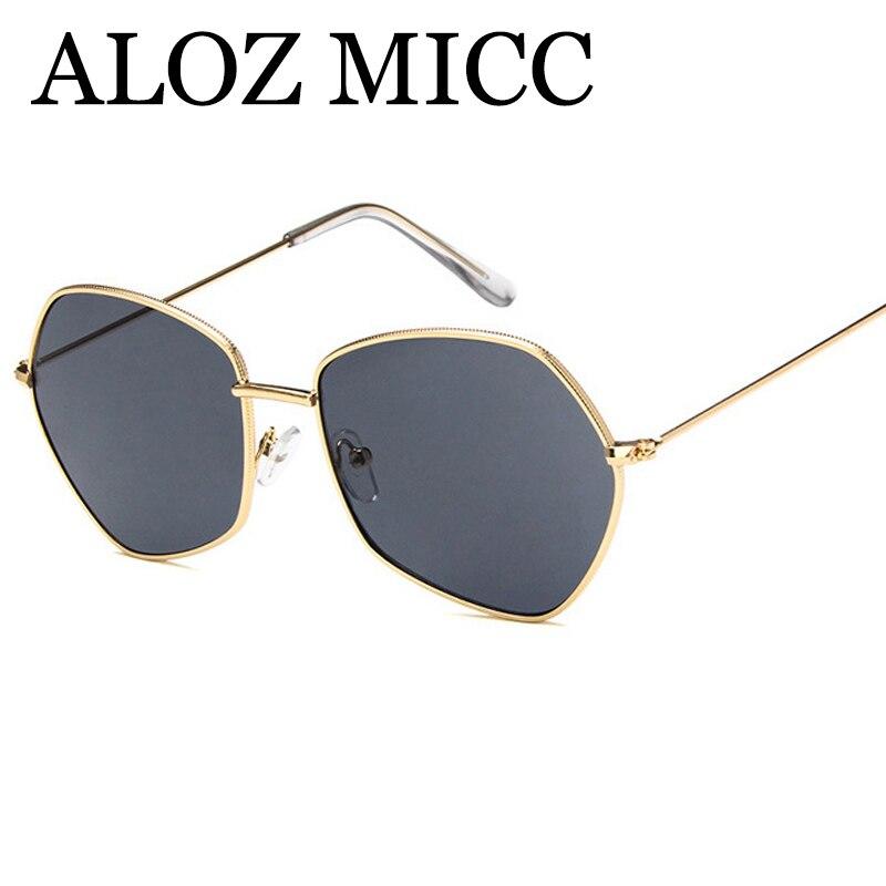 ALOZ MICC 8 Couleurs 2018 Tendance Femmes Petit Polygone lunettes de Soleil De Mode Chaude En Métal Cadre Teinte Objectif Hommes Lunettes UV400 Q309