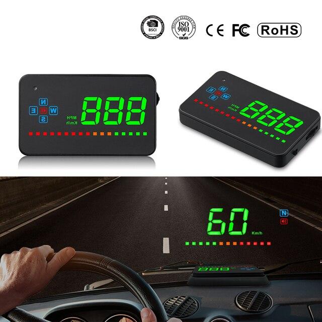Xycing A2 HUD 3,5 дюймов gps автомобилей Head Up Дисплей Скорость будильника Compass лобовое стекло проектор Скорость ometer HUD через gps спутников