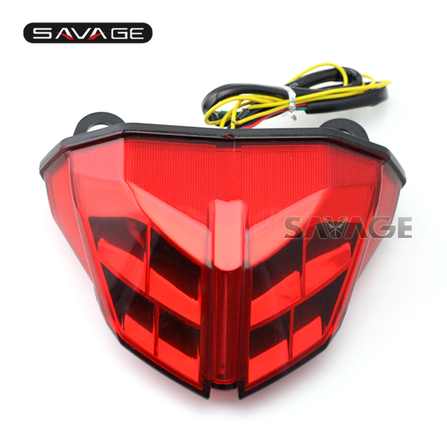 For DUCATI Streetfighter 848/1100 2012 2013 2014 Motorcycle Integrated LED Tail Light Turn signal Blinker Lamp Red