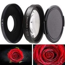 CAENBOO Super Macro Close Up Lens Filtros Para XiaoMi Yi 4 K/II/Lite/+ Mais 12.5X Filtro Câmera de Ação Esporte Yi 4 K + CCTV 37mm Cap