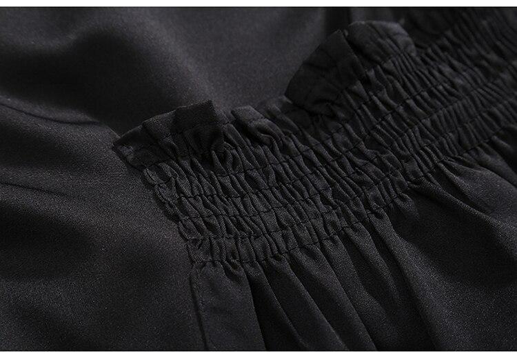 HTB18.fApk7mBKNjSZFyq6zydFXai 2019 Korean Style Women Very Long Solid Black Jacket Open Design Long Tape Stitched Metal Holes Female Stylish Loose Jacket 3843