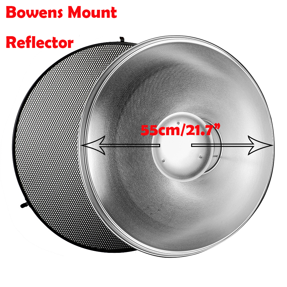 Godox Beauty Dish Standard Flash Reflector BDR-S with 550mm and Silver Bounce Honey Comb C-01 for GODOX QT600IIM/QT400IIM 6 4 4m bounce house combo pool and slide used commercial bounce houses for sale