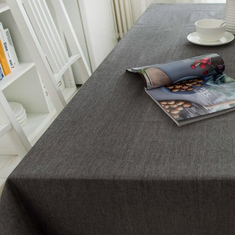 Moderne Coton Linge de Table Tissu Imperméable Carré Parti Banquet Nappe Extérieure Solide Couleur Nappe Couverture De Table Overlay
