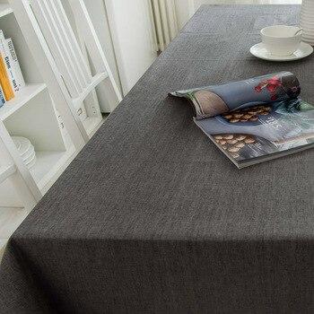 Moderno de algodón de mantel de lino impermeable cuadrado fiesta banquete mantel para exteriores de Color sólido mantel NAPE de superposición