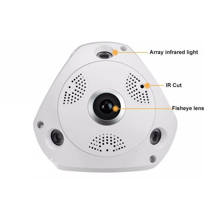 HD панорамная камера 12 МП Беспроводная система фотоаппаратов HD камера ночного видения 360 широкоугольная камера рыбий глаз Android