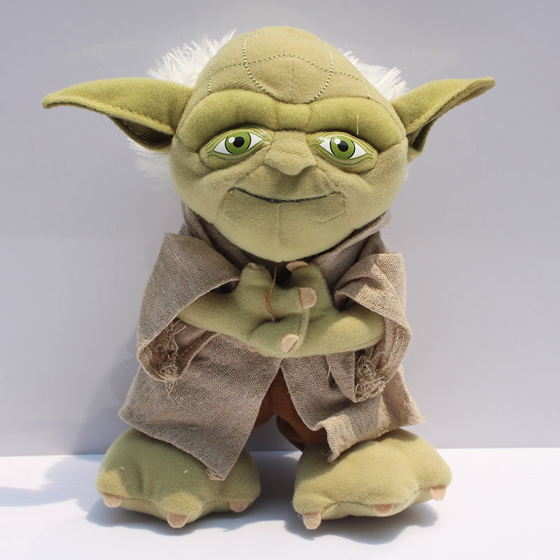 1Pcs 8inch 20cm Yoda Plush Toys Star Wars Character Master Yoda Plush Toy Stuffed Plush Soft Doll Great Gift Free Shipping stuffed animal 90 cm plush dolphin toy doll pink or blue colour great gift free shipping w166