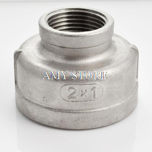 2x1Female Nipple Threaded Reducer Pipe Fitting Stainless Steel 304 BSP 1 2 x 1 2 threaded 90 angle elbow pipe fitting connector nipple