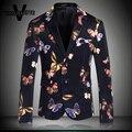 Урожай Этап Одежда Певица Печатных Бабочка Красочные Blazer Homme Партия Носить Тощий Роскошные Мужчины Blazer Куртка М-4XL
