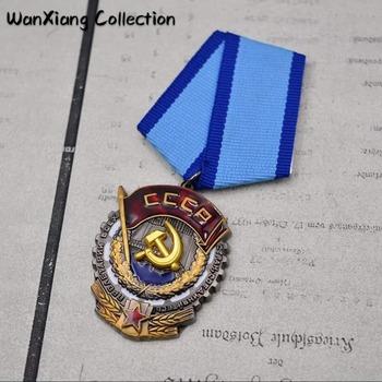 Najwyższej jakości radziecki Order czerwonego sztandaru pracy zsrr rosja Medal odznaka tanie i dobre opinie RUSSIA Metal Patriotyzmu Nowoczesne