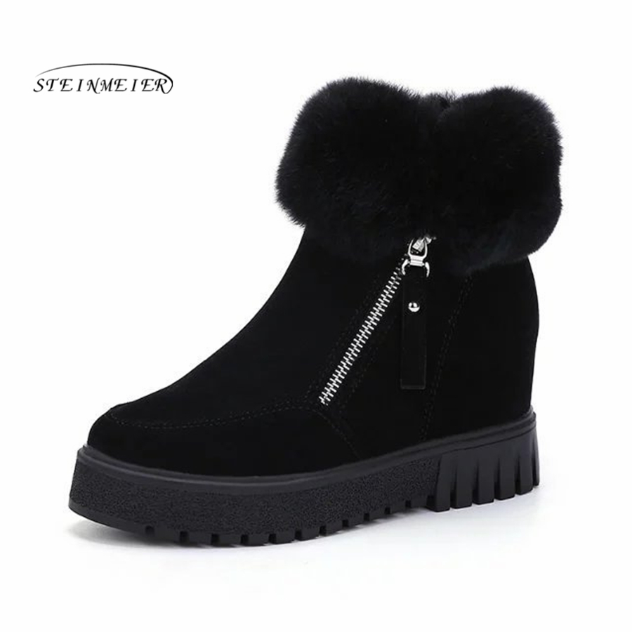 Women Boots Winter Warm Snow Boots black Botas Mujer zipper Fur short Ankle Boots Ladies Winter Women Shoes 3m 9332 ffp3 respirator dust mask folding cold flow valve respirator mask for particles dust flu virus n99 filter mask