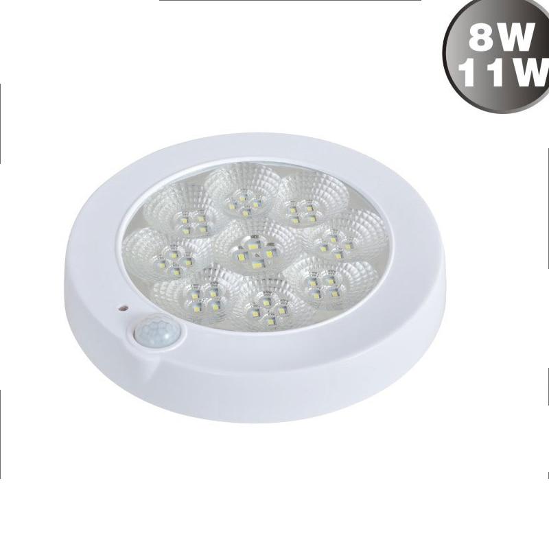 Новый год AC220V 8 Вт/11 Вт Проходная Прихожая ИК инфракрасный человеческий корпус интеллектуальный датчик светодиодный потолочный светильник ...
