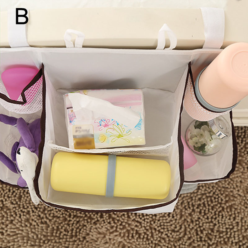 Portable Baby Bed Hanging Storage Bag Waterproof Toy Diapers Pocket Bedside Organizer Infant Crib Bedding Set 8 XHC88