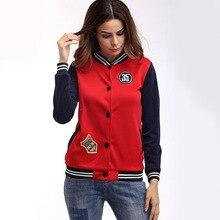Jacket Women Coat Baseball Uniform Women Print Outwear Men Uniforms Black Red Long Sleeve Jackets Button Pocket Red Black Spring