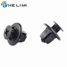 KELIMI Automotive Accessories 100x For Toyota Fenders Bumper Radiator Grill Retaining Clip 9mm Hole Fasteners