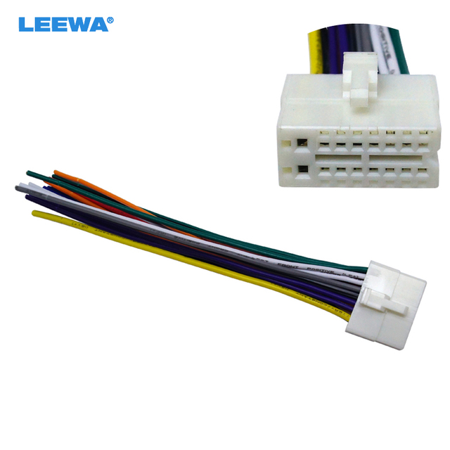 leewa car radio stereo 16pin wire harness male plug cable connector rh aliexpress com 16 pin wiring harness walmart 16 pin wiring harness walmart