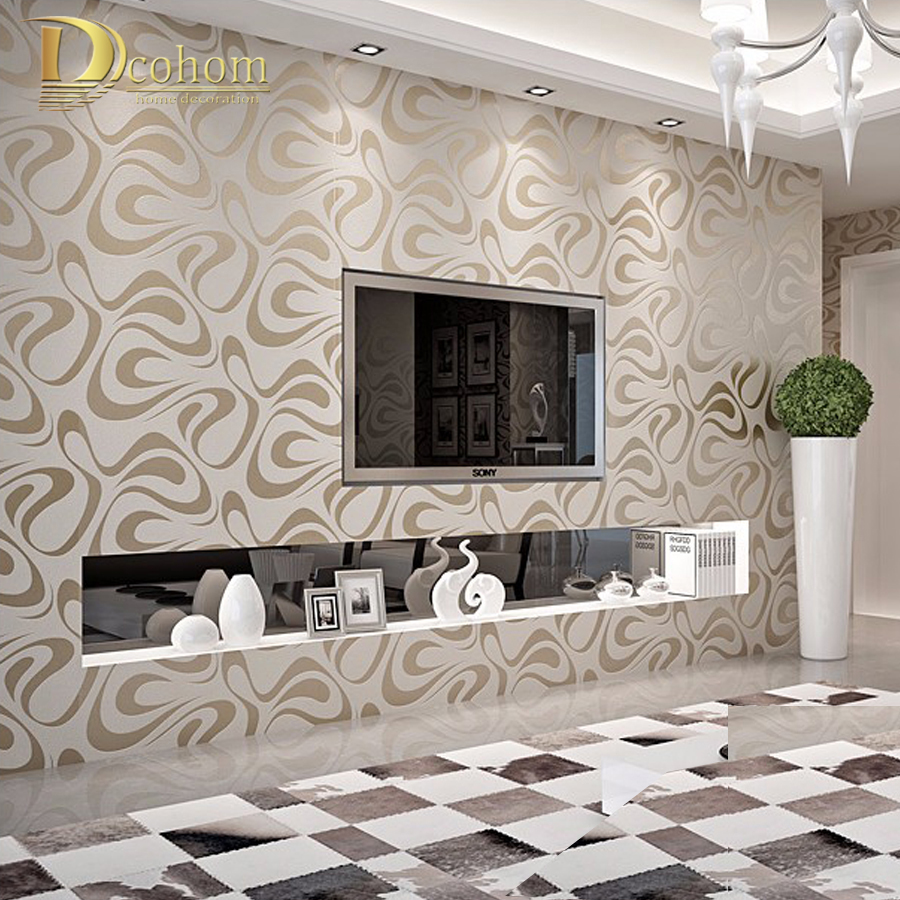 Enhancing Living Quality Small Bedroom Design Ideas: Online Buy Wholesale Living Room Wallpaper From China