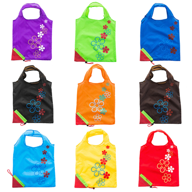 e9039fd3ba US $0.54 22% OFF|Hot 11 Colors Foldable Shopping Bags Eco Reusable storage  bag Handbag Strawberry Folding Grocery Nylon Bag Home tote Bag F-in Bags &  ...