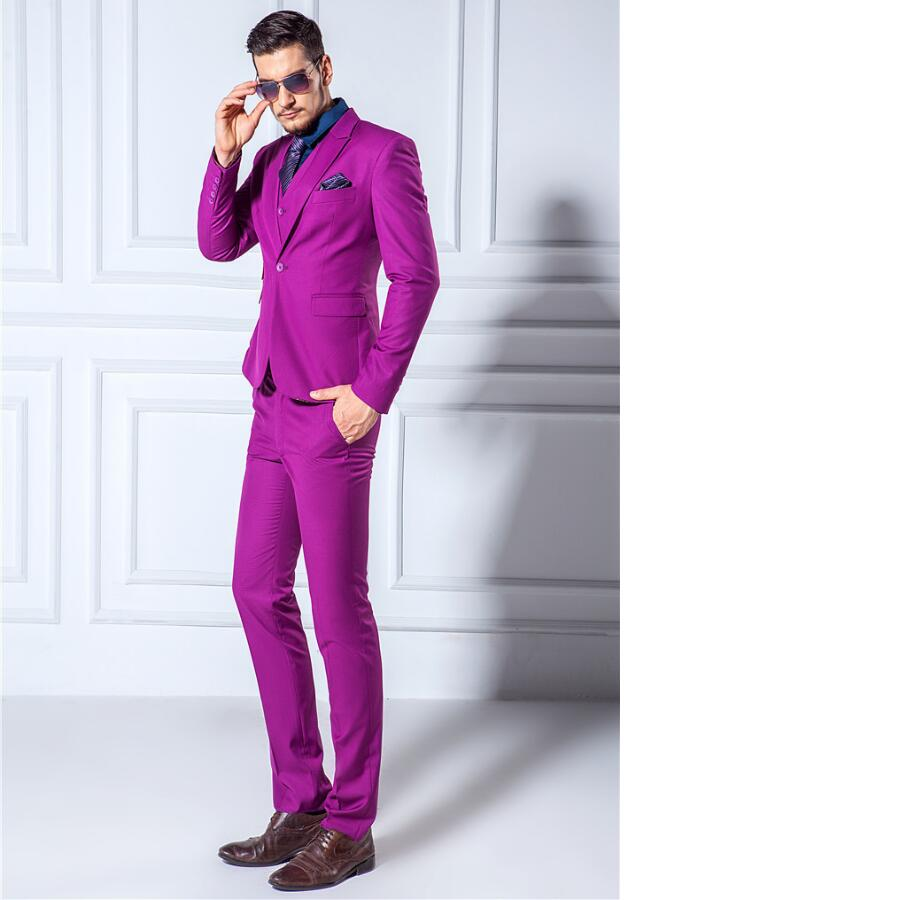 Custom (Chaquetas + Pantalones + chaleco) hombres Trajes Delgado ...